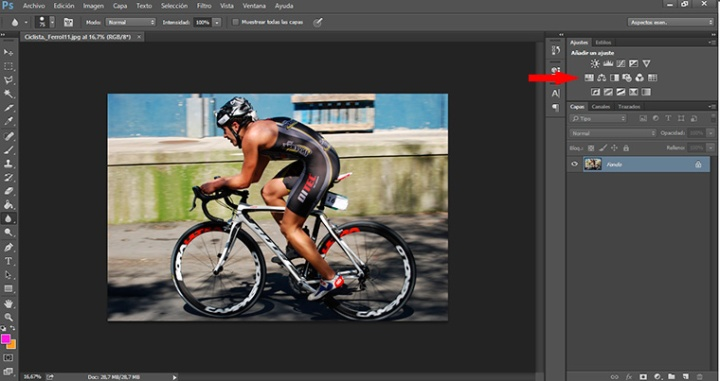 Panel photoshop tono y saturacion curso de retoque