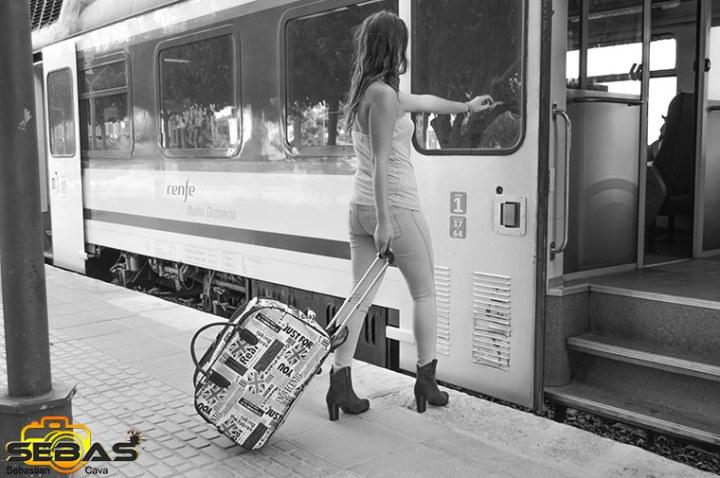 reportaje de moda en la estación de totana