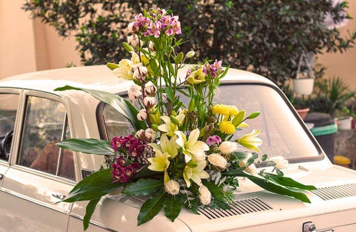Centro con flores muy decorativo