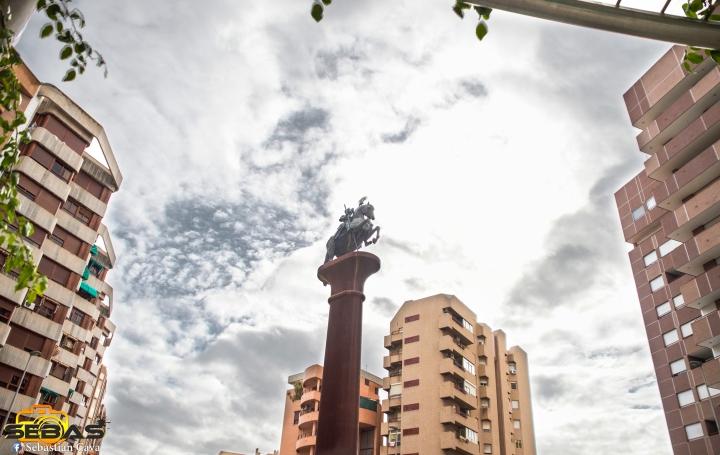 Fotografia en HDR de la redonda de Lorca el ovalo