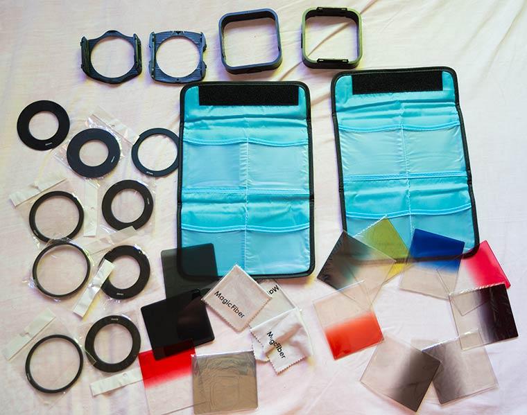 Accesorios del kit de filtros cuadrados de neewer