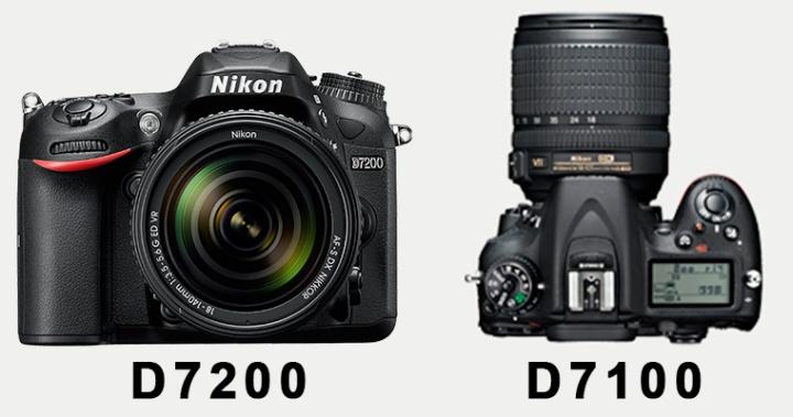 Comparativa sobre la nikon d7200 vs nikon d7100