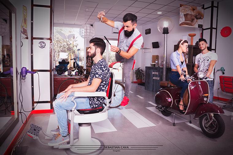 Angel rochas peluqueria sesión de fotos en Totana Murcia